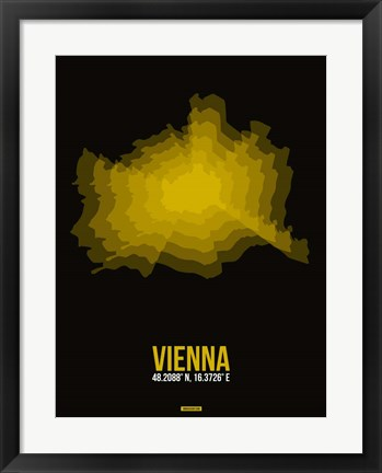 Framed Vienna Radiant Map 4 Print