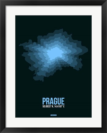 Framed Prague Radiant Map 2 Print