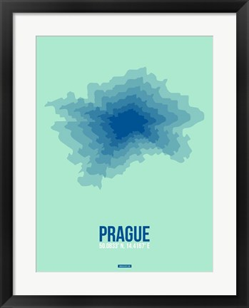 Framed Prague Radiant Map 4 Print
