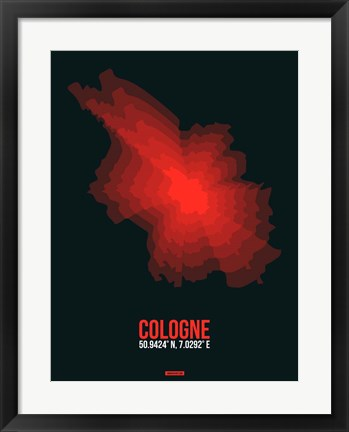 Framed Cologne Radiant Map 1 Print