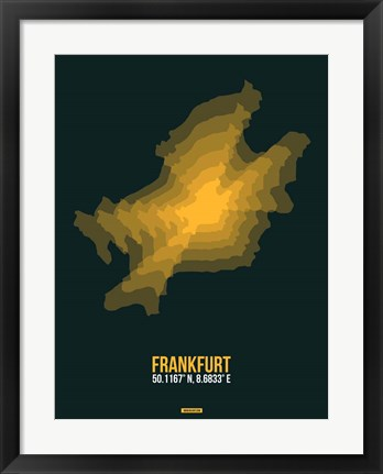 Framed Frankfurt Radiant Map 1 Print