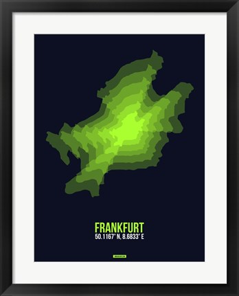 Framed Frankfurt Radiant Map 2 Print