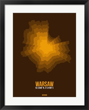 Framed Warsaw Radiant Map 1 Print