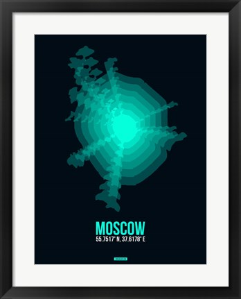 Framed Moscow Radiant Map 3 Print