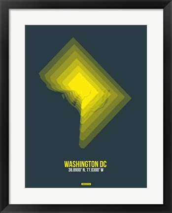 Framed Washington DC Radiant Map 4 Print