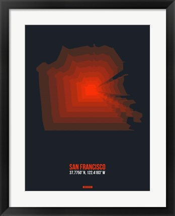 Framed San Francisco Radiant Map 5 Print