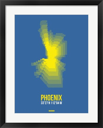 Framed Phoenix Radiant Map 2 Print