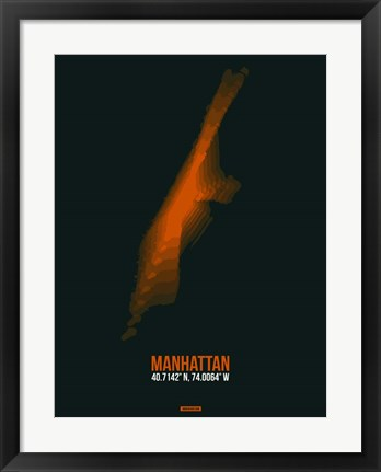 Framed Manhattan Radiant Map 4 Print