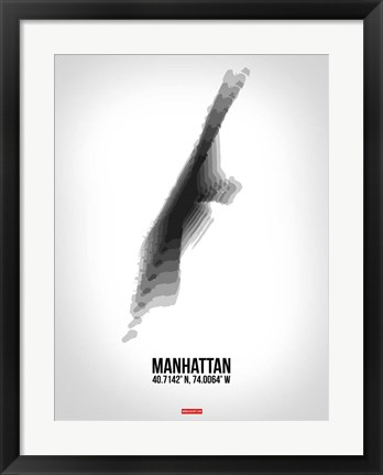Framed Manhattan Radiant Map 5 Print
