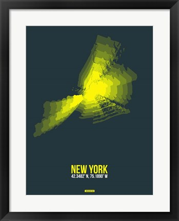 Framed New York Radiant Map 1 Print