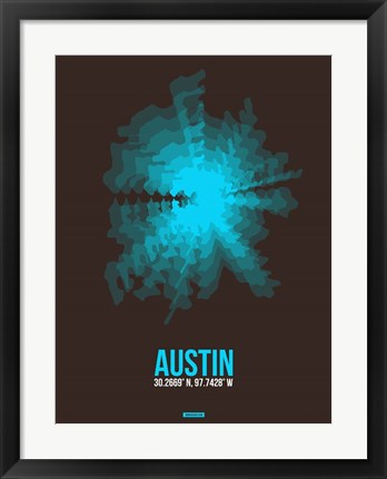 Framed Austin Radiant Map 1 Print