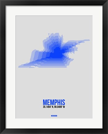 Framed Memphis Radiant Map 3 Print