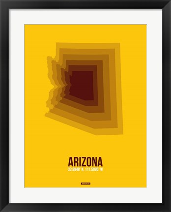 Framed Arizona Radiant Map 3A Print