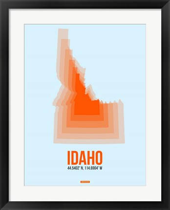 Framed Idaho Radiant Map 1 Print