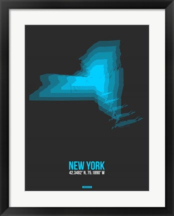 Framed New York Radiant Map 5 Print