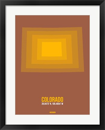 Framed Colorado Radiant Map 1 Print