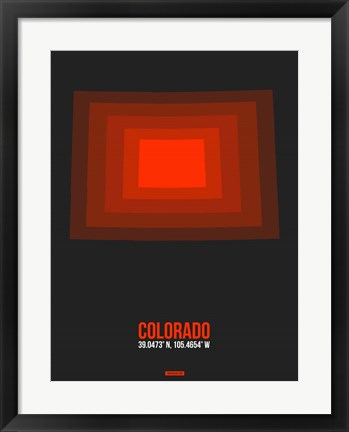 Framed Colorado Radiant Map 6 Print