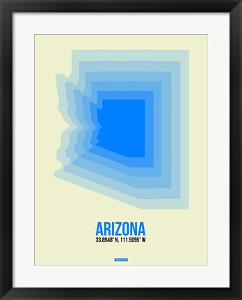 Framed Arizona Radiant Map 2B Print