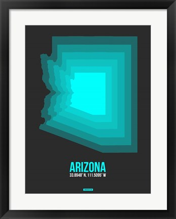Framed Arizona Radiant Map 5B Print