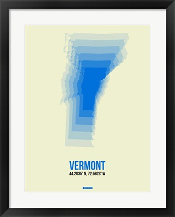 Framed Vermont Radiant Map 1 Print