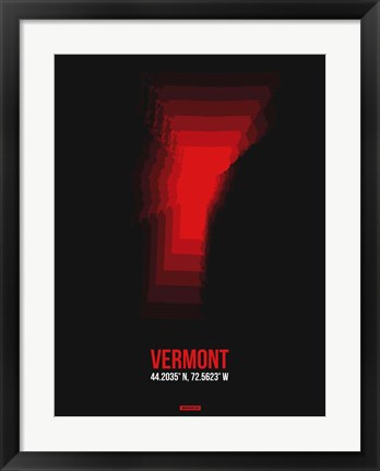 Framed Vermont Radiant Map 4 Print