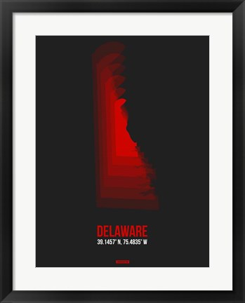 Framed Delaware Radiant Map 4 Print