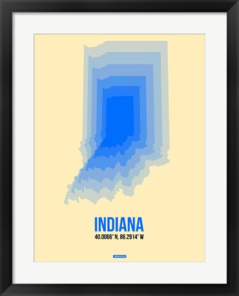 Framed Indiana Radiant Map 1 Print