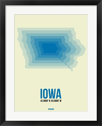 Framed Iowa Radiant Map 1 Print