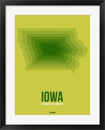 Framed Iowa Radiant Map 2 Print