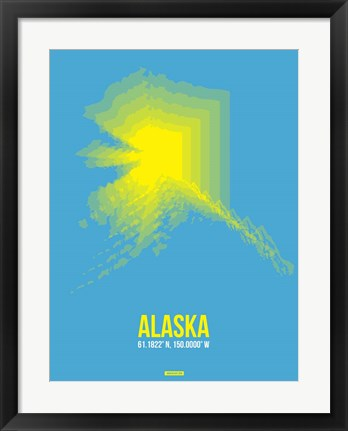 Framed Alaska Radiant Map 2 Print