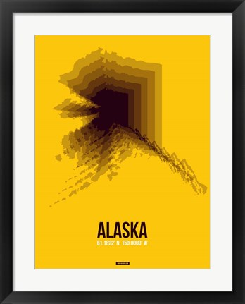 Framed Alaska Radiant Map 3 Print