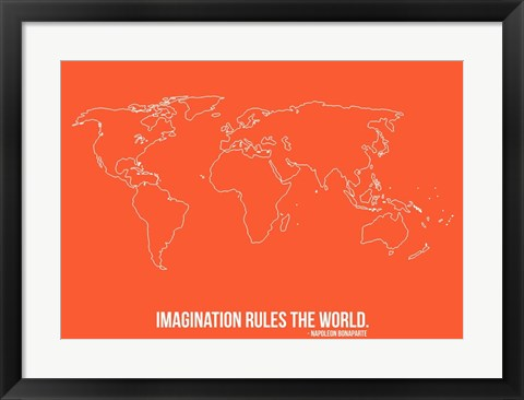 Framed World Map Quote 3 Print
