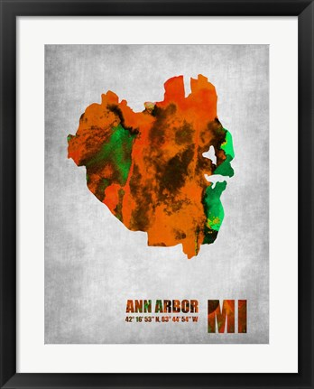 Framed Ann Arbor Michigan Print