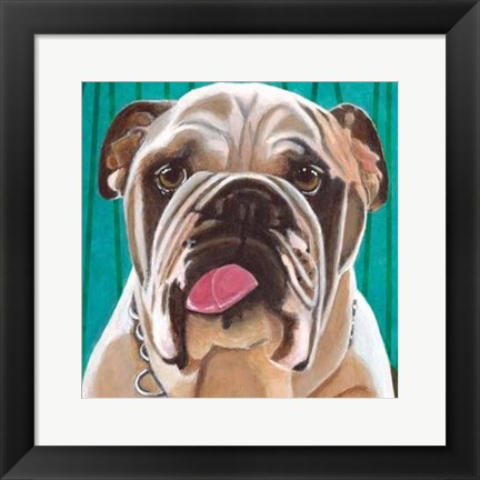 Framed Dlynn's Dogs - Bosco Print