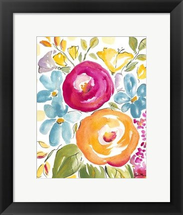 Framed Flower Delight I Print