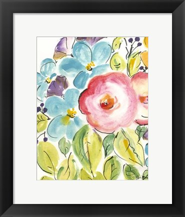 Framed Flower Delight II Print