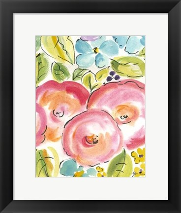 Framed Flower Delight III Print