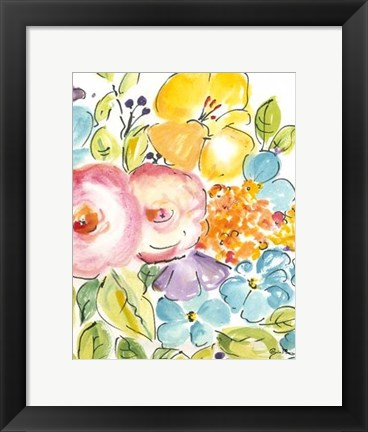 Framed Flower Delight IV Print