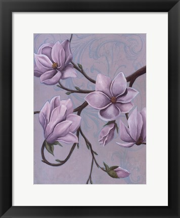 Framed Branches of Magnolia I Print