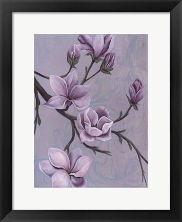 Framed Branches of Magnolia II Print