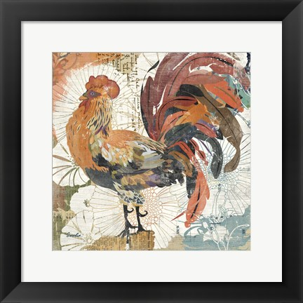 Framed Rooster Flair II Print