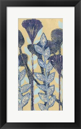 Framed Chromatic Floral Mix II Print