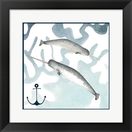 Framed Whale Composition II Print