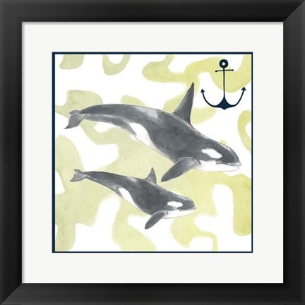 Framed Whale Composition III Print