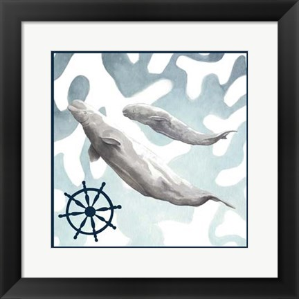 Framed Whale Composition IV Print