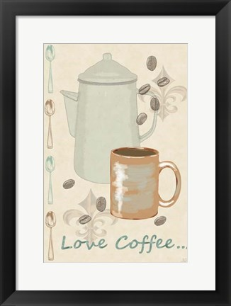 Framed Love Coffee Print