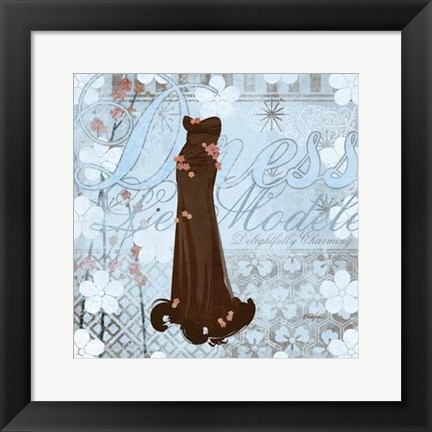 Framed Haute in Blue I Print