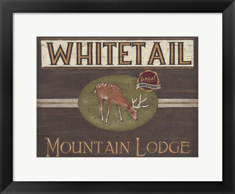 Framed Lodge Sign VI Print