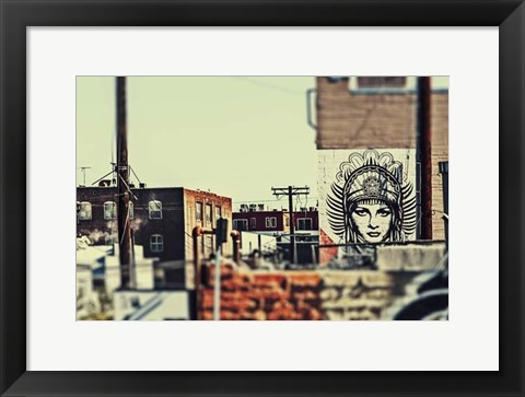 Framed Urban Tags III Print