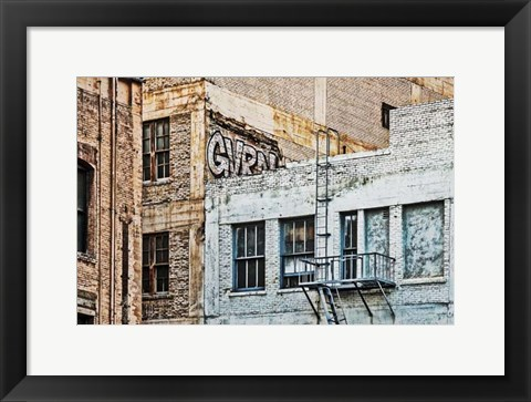 Framed Urban Tags IV Print
